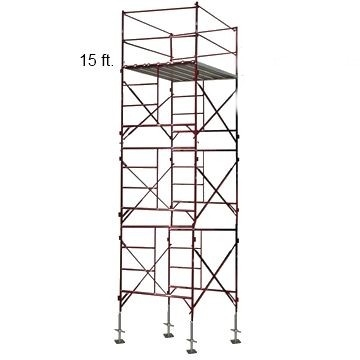 Scaffold Tower 15 Foot With 10 Bracing