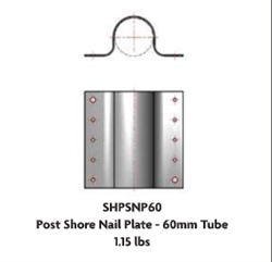 Post Shore Nail Plate 60mm Set of 12