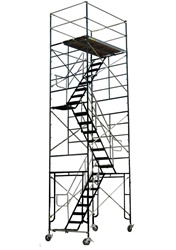 20 Foot Rolling Scaffold Stair Tower