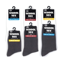 HappyToes - Mid-calf school socks - Seamless - 6 Pairs
