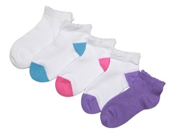 Sunfort - 5 pairs of cotton ankle socks for girls