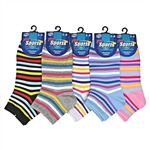 Sunfort - Ankle socks with thin stripes