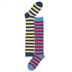 Sunfort - Striped blue knee highs