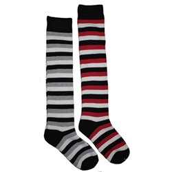 Sunfort - Black striped knee highs