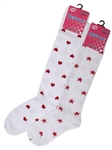Sunfort - White patterned knee highs for kids
