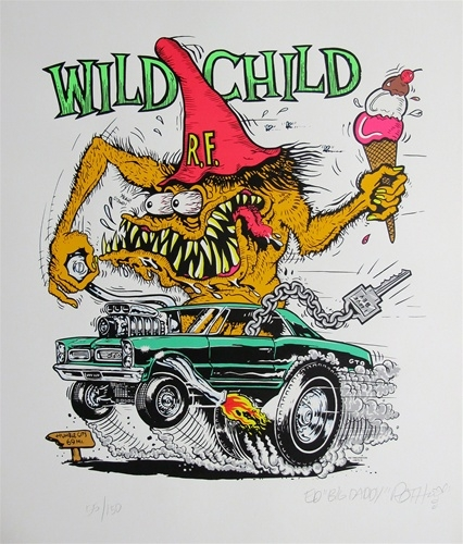 "Ed ""Big Daddy"" Roth ""Wild Child"" Rat Fink Signed"