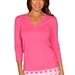 Golftini Hot Pink V-Neck Sweater