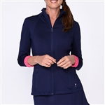 Golftini Navy/Hot Pink Tech Jacket