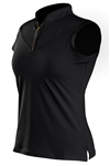 Coates Golf Sleeveless Polos - Black