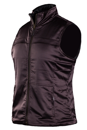 Coates Golf Reversible Quilted Vest - Chocolate/Black