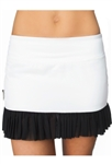 FlirTee Mesh Ruffle Golf Skort - 3 Colors