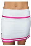 FlirTee Striped Hem Golf Skorts - 3 Colors
