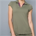 Denise Cronwall Collar Top - Army of Lovers, Green