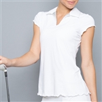 Denise Cronwall White  Collar Top