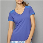 Denise Cronwall Short Sleeve Top - Royal Blue