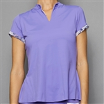 Denise Cronwall Cap Sleeve Mock - Serenity Lilac