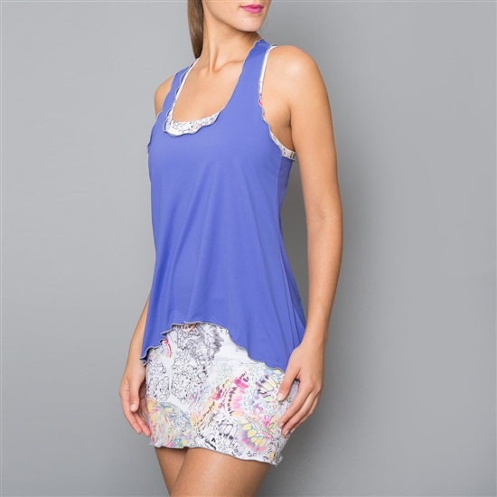 Denise Cronwall Edge Periwinkle Tennis Dress