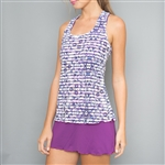 Denise Cronwall Mosaic Racerback Tennis Dress