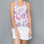 Denise Cronwall Tennis Dress - Army of Lovers White Floral Mesh
