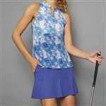 Denise Cronwall Golf Dress - Scotia Print/Blue