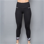 Denise Cornwall Inverted Pocket Legging - Vivid Dark, Black