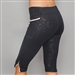 Denise Cronwall Inverted Pocket Villia Black Embossed Legging