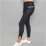 Denise Cronwall Inverted Pocket Villia Embossed Legging