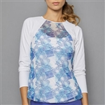 Denise Cronwall Sheer Body Top - Scotia Print