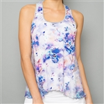 Denise Cronwall Racerback Tank - Mystical Floral