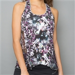 Denise Cronwall Racerback Layer Top - Vivid Dark, Floral
