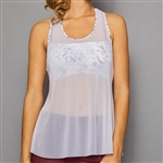 Denise Cronwall Sheer Layer Top - Rhapsody White