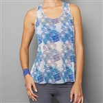 Denise Cronwall Sheer Layer Fitness Top - Scotia Print