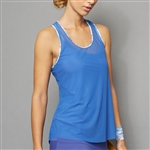 Denise Cronwall Sheer Layer Fitness Top - Royal Blue