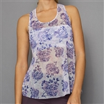 Denise Cronwall Sheer Layer Top - Serenity Print