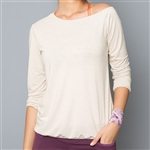 Denise Cronwall Shimmer Pullover - Wheat/Gold
