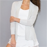 Denise Cronwall Silver/White Shimmer Cardigan