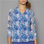 Denise Cronwall V-Neck Pullover - Scotia Print