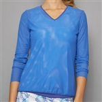 Denise Cronwall V-Neck Pullover - Royal Blue