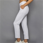 "Denise Cronwall 27"" Cropped Pant - Pure White"