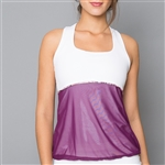 Denise Cronwall Mulberry Racerback Tank