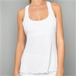 Denise Cronwall Classic White Racerback Tank