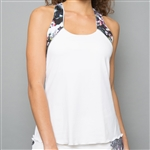 Denise Cronwall Racerback Top - Vivid Dark, White