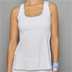 Denise Cronwall Racerback Top - Scotia White