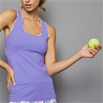 Denise Cronwall Racerback Tank - Serenity Lilac