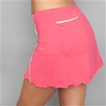 Denise Cronwall Deco Red Pocket Tennis Skort