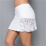 Denise Cronwall Edge White Pocket Tennis Skort