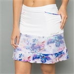 Denise Cronwall Golf Skort - Mystical, White