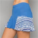 Denise Cronwall Grace Nordica Blue Tennis Skort