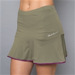Denise Cronwall Solid Skort - Army of Lovers, Green