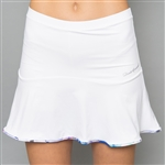 Denise Cronwall Solid Skort - Mystical, White